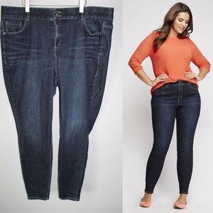 Lane Bryant Skinny Jeans Size 24 Long HW4596